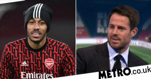 Pierre-Emerick Aubameyang calls out Jamie Redknapp after brace for Arsenal