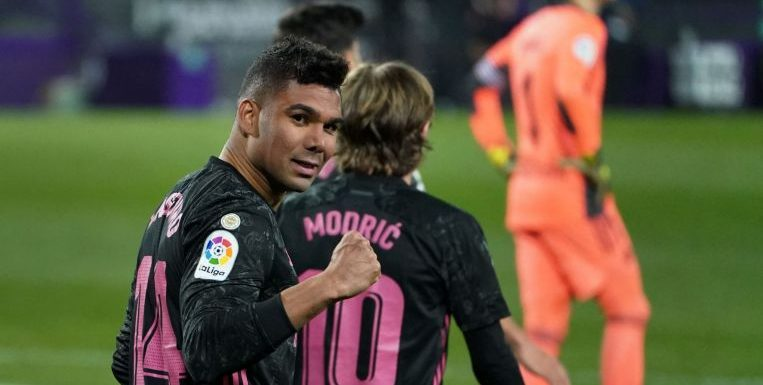 Football: Casemiro header snatches win for Real to close gap on Atletico