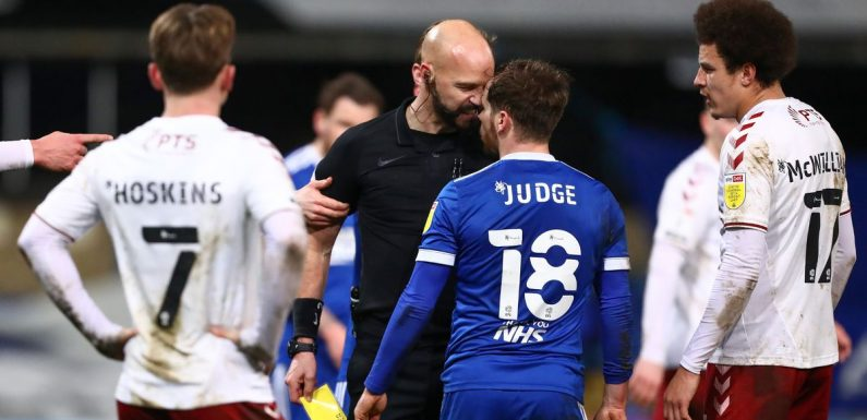 Referee Darren Drysdale charged by FA over altercation with Ipswich's Alan Judge