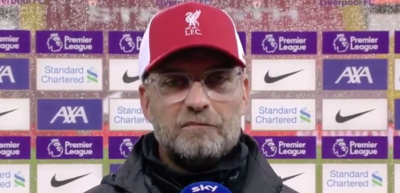 """Klopp explains why there was """"no chance"""" he'd start Ben Davies and Ozan Kabak"""