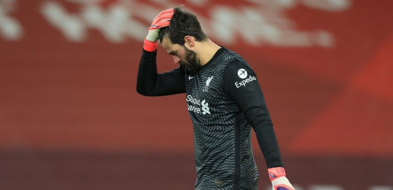 Alisson's Man City display rated as worst in any Premier League game this season