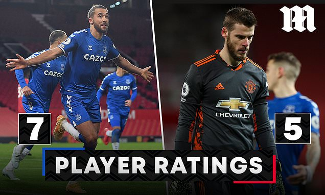 PLAYER RATINGS: De Gea costs Man United as Calvert-Lewin steps-up