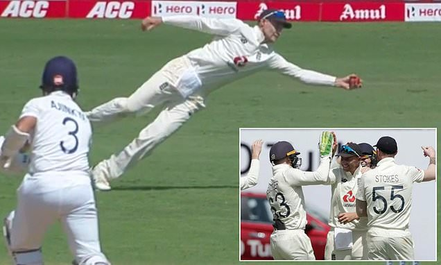 Joe Root takes stunning one-handed catch to dismiss Ajinkya Rahane