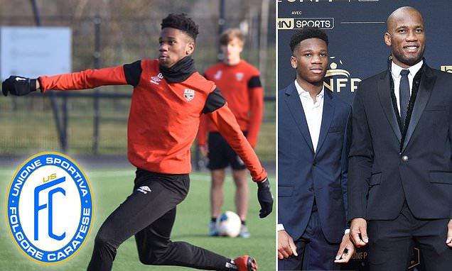Didier Drogba's son Isaac signs for Italian side Folgore Caratese