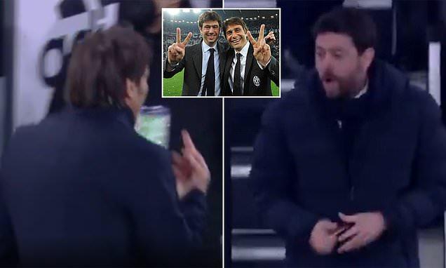 How did Antonio Conte's relationship with Andrea Agnelli break down?