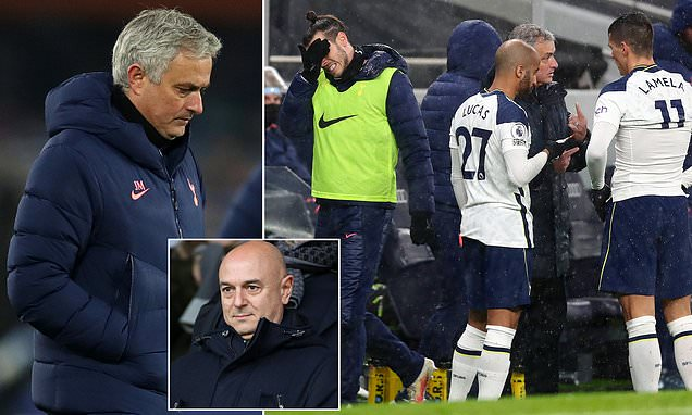 Mourinho's position 'is SAFE at Tottenham despite poor run of form