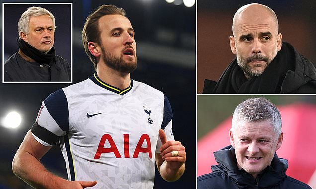 Tottenham set £150m price tag for Harry Kane with City and United keen