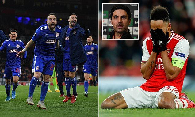 Arteta calls on Arsenal to use Olympiacos defeat as inspiration