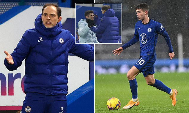 Tuchel admits Chelsea must manage Pulisic's fitness after calf issue