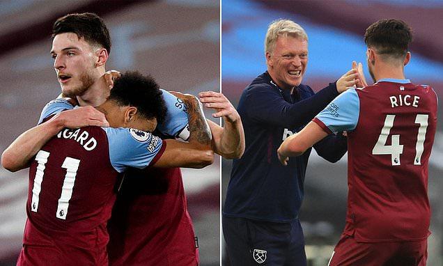 David Moyes says having Declan Rice at West Ham puts pressure on him