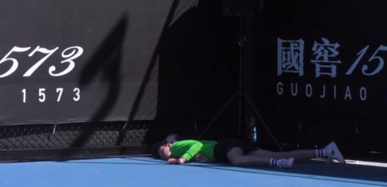 Players visibly distressed as ball boy collapses at Australian Open