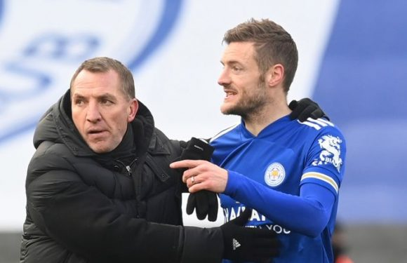Jamie Vardy: Leicester boss Brendan Rodgers backs striker to rediscover form ahead of Arsenal clash