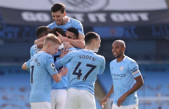 Man City 2-1 West Ham: Ruben Dias and John Stones score as City stretch winning run to 20