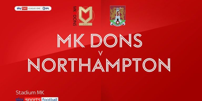 MK Dons 4-3 Northampton: Charlie Brown completes dramatic turnaround as MK win seven-goal thriller