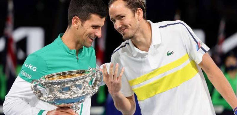 Australian Open: Daniil Medvedev describes Novak Djokovic, Roger Federer and Rafael Nadal as 'cyborgs of tennis'