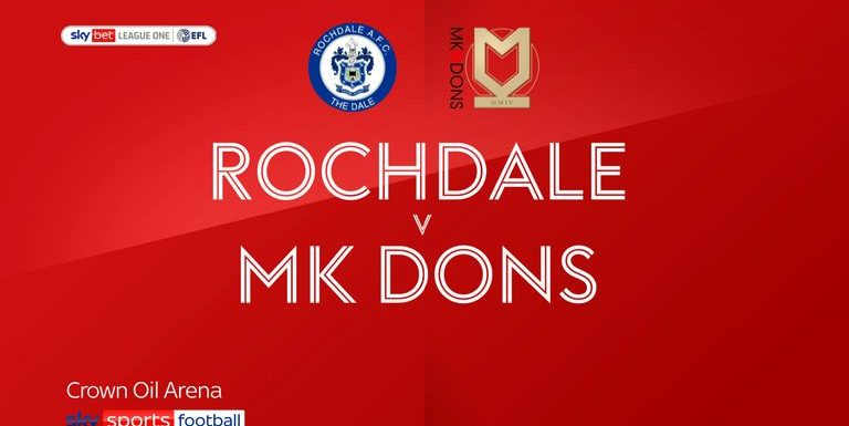 Rochdale 1-4 MK Dons: Cameron Jerome on target in thumping MK win