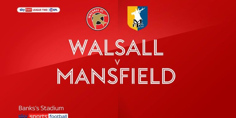 Walsall 1-1 Mansfield: Ollie Clarke earns point for Stags.