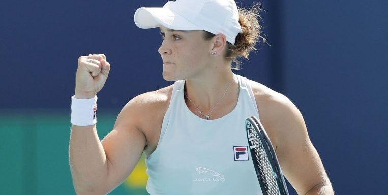 Tennis: Barty battles into Miami semi-finals