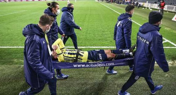 Ozil misery continues after Arsenal as he comes off on stretcher for Fenerbahce