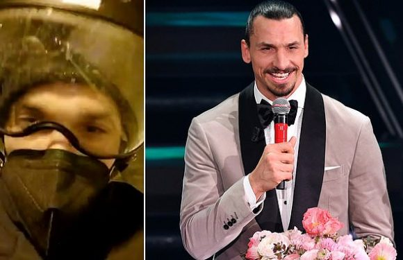 Zlatan Ibrahimovic travels to music festival on a motorbike
