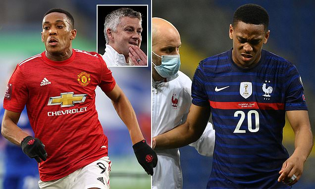 Manchester United ace Martial in race to be fit for Brighton clash