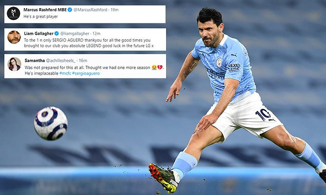 Liam Gallagher leads tributes to Sergio Aguero after departure news