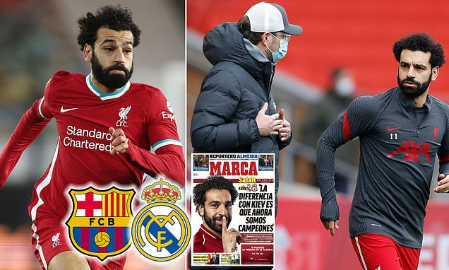 Liverpool's Mohamed Salah again refuses to rule out a move to Spain