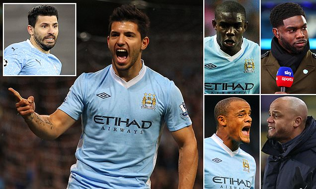 Where are the stars who played in Aguero's Man City debut in 2011?