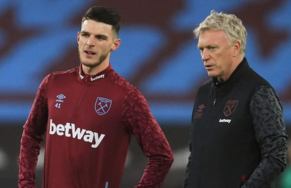 Declan Rice: David Moyes says West Ham midfielder is worth more than £100m