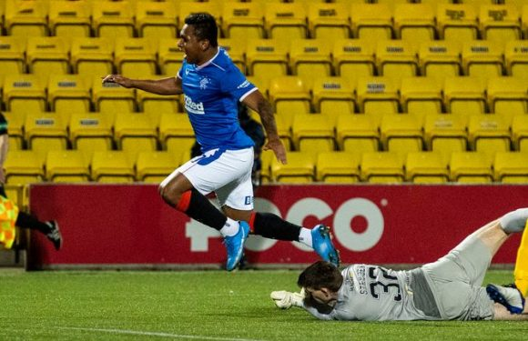 Rangers' Alfredo Morelos has caution for simulation rescinded; Steven Gerrard accepts one-match ban