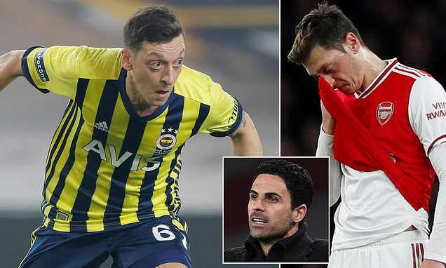 Arsenal 'are STILL paying over 90% of Ozil's £350,000-a-week wages'