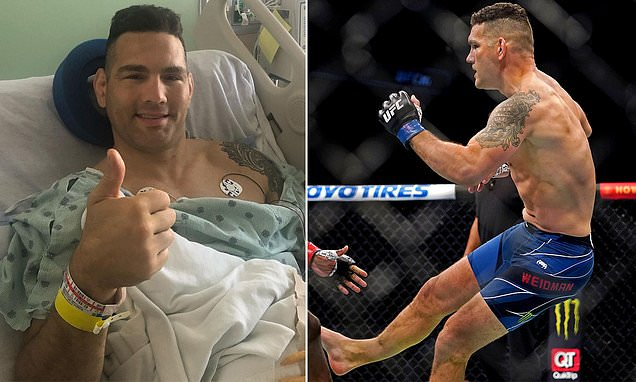 Chris Weidman recovering in hospital after succesful surgery