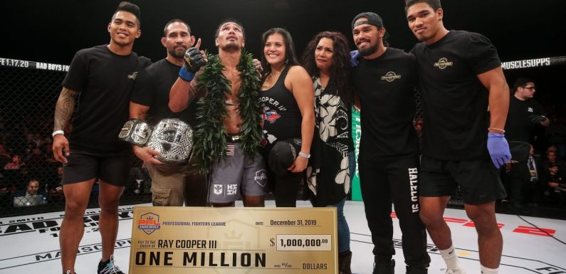 Defending PFL welterweight champion Ray Cooper III is used to reclaiming the spotlight