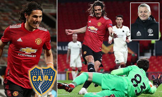Edinson Cavani 'persuaded to commit his future to Manchester United'