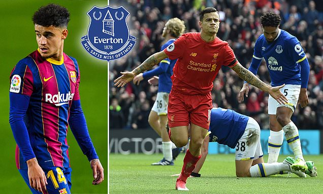 Everton eyeing Philippe Coutinho for a shock summer move from Barca