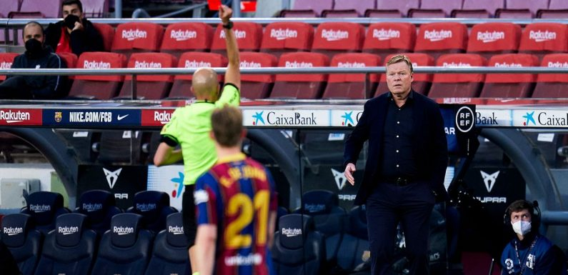 Koeman's quip to fourth official which led to sending off in Barcelona defeat