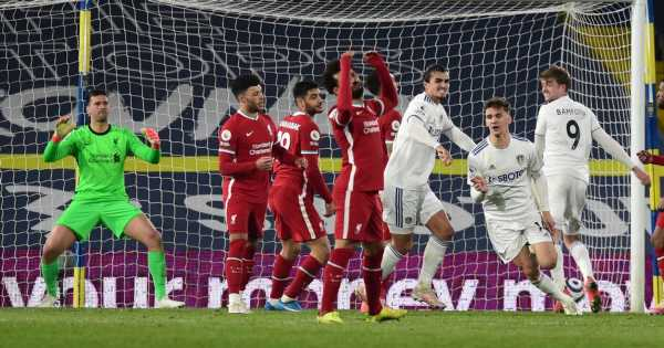 Leeds United brutally mock Liverpool with 'Merseyside Reds' dig after 1-1 draw
