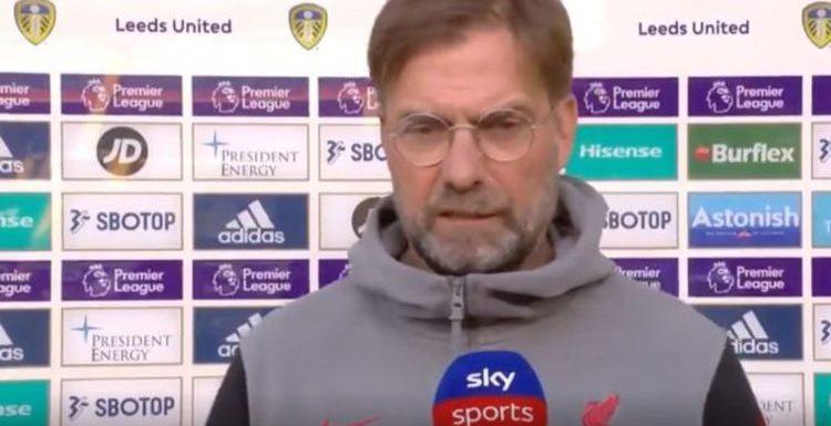 Liverpool boss Jurgen Klopp fumes at Leeds anti-ESL propaganda left in changing rooms