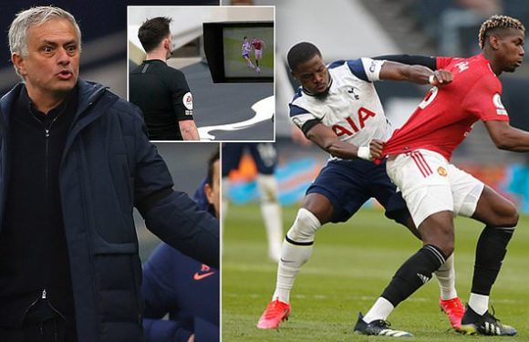 Mourinho says Pogba could have been sent off in Tottenham's loss