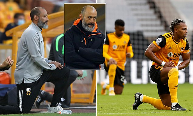 Nuno says players should take a knee for longer than five seconds