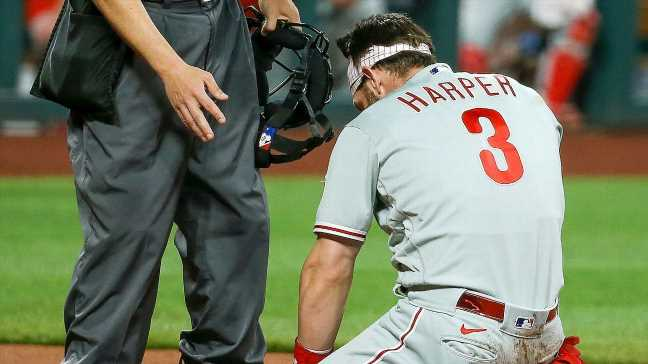 Phils' Harper: 'Had angel on my side' with HBP