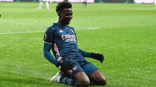 Saka a bright spot of Arsenal's tough season as they compete for Europa League glory