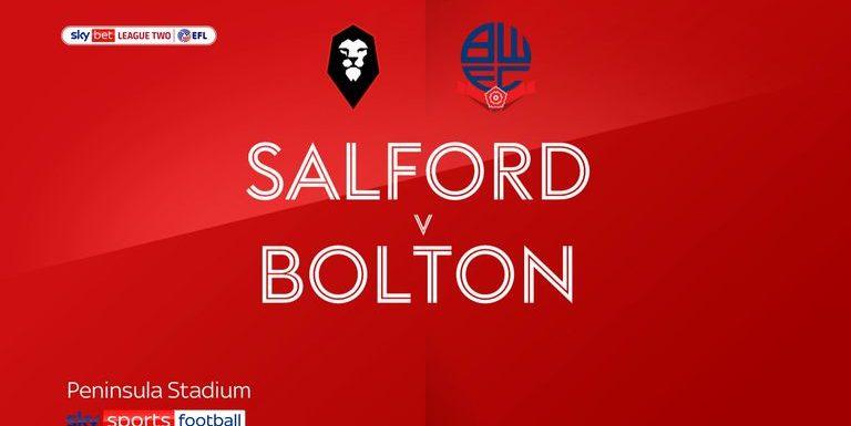 Salford 0-1 Bolton: Lloyd Isgrove goal settles fiery local derby
