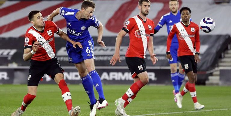 Southampton 1-1 Leicester: Jonny Evans earns Foxes point against 10-man Saints in Champions League chase