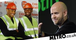 Three Arsenal legends join Spotify founder Daniel Ek's bid to buy club
