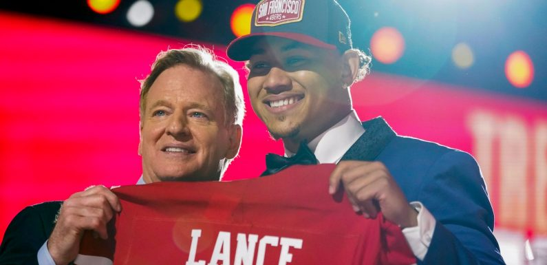 Trey Lance drafted by San Francisco 49ers after head coach Kyle Shanahan became 'obsessed' with quarterback
