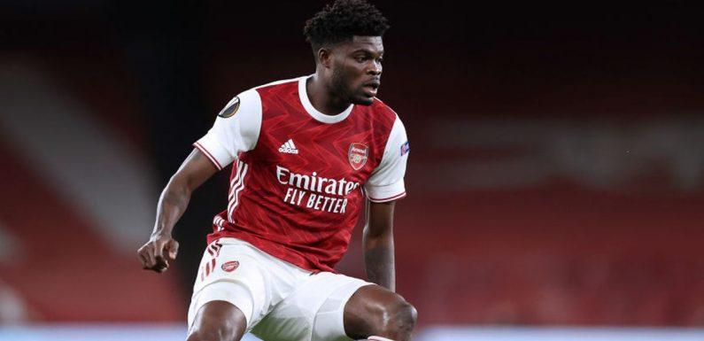 Arsenal fans worried over Thomas Partey after Slavia Prague performance