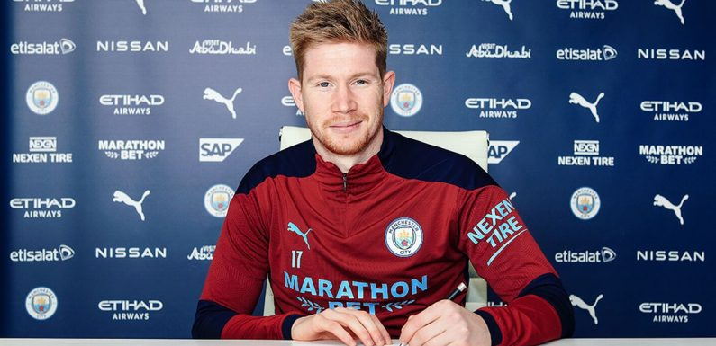 Kevin De Bruyne pens new £300,000-a-week contract with Man City until 2025