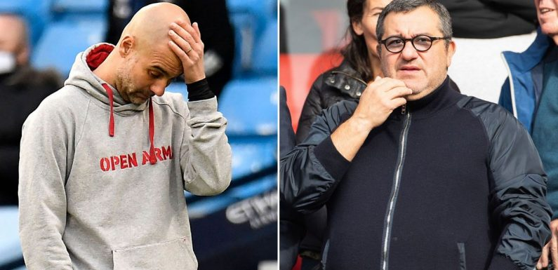 Guardiola and Raiola's bitter row explained as Man City pull out of Haaland race