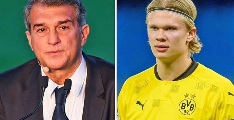 Barcelona chief Joan Laporta 'wants Erling Haaland signed before Lionel Messi contract'